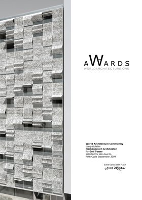 Golfs Tower receives the World Architecture Community Award 2009