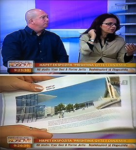 """PRISHTINA DYNAMIC CITY"" on Kosov TV"